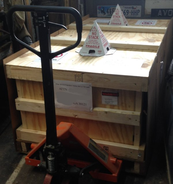 pallet and crate ready to ship