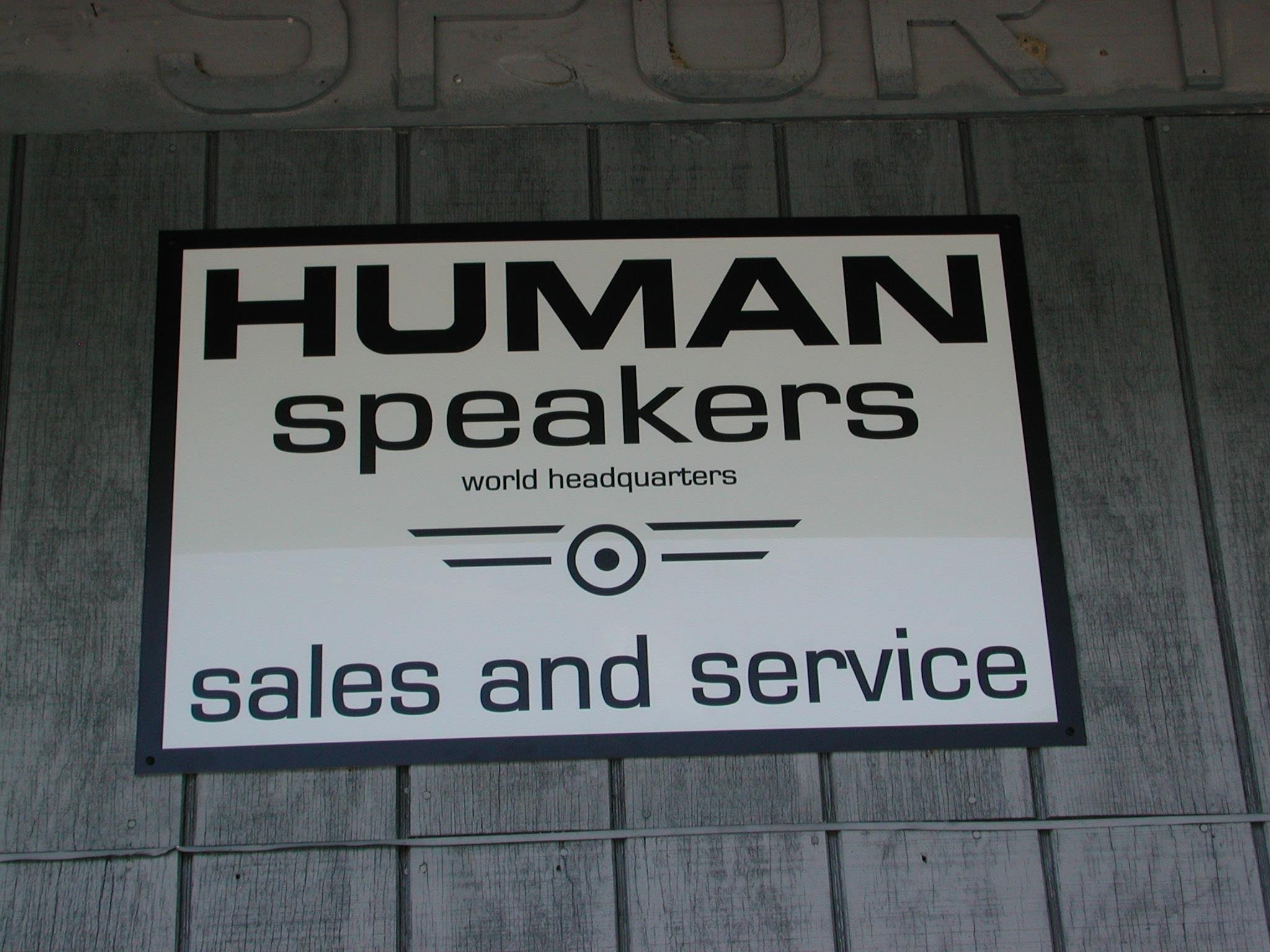 Sign for HUMAN Speakers