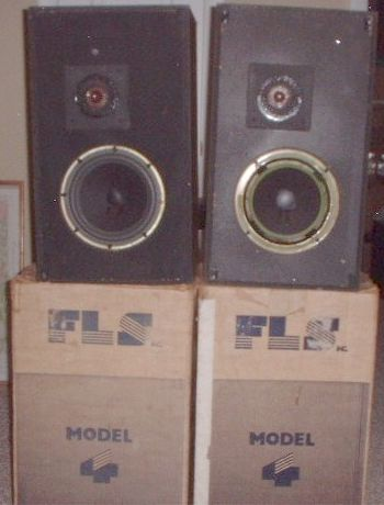 speakers with cartons