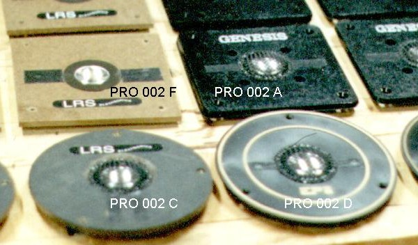 Four types of rebuilt tweeters
